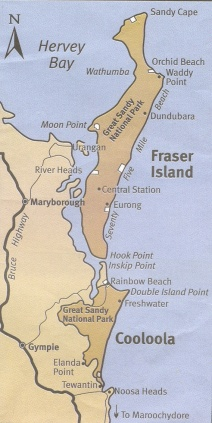 Fraser Island off the coast of Queensland