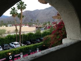 The view from our Motel at Palm Springs
