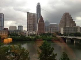 Lady Bird Lake & a view to the city's ever changing skyline