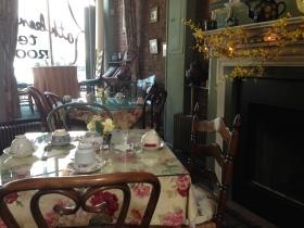 Table setting at Kathleen's Tea Room