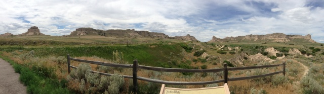 A panorama as you approach Scott's Bluff