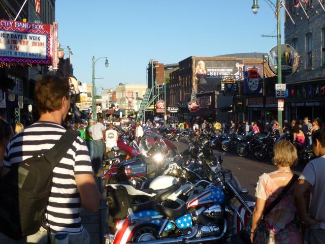 Bike night in Beale Street