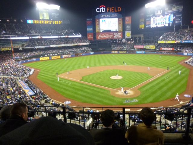 A game between the Mets & the Yankees