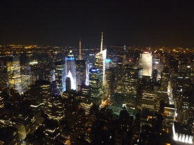 The City lights from the Empire State Building