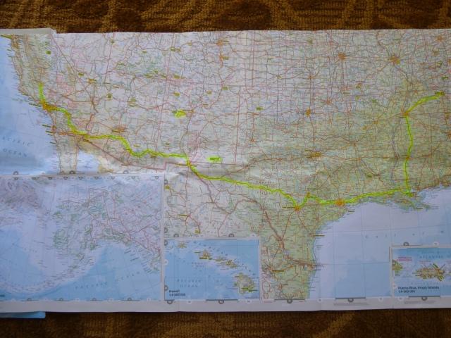 Around 3000 miles across five states