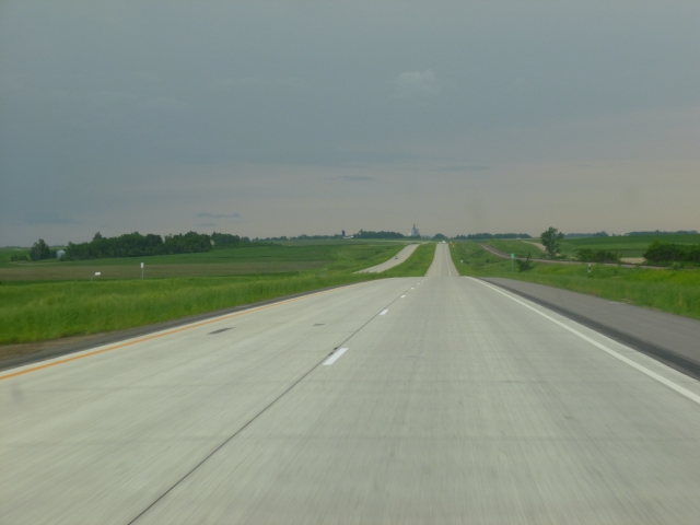 Iowa state highway 75, not bad for a back road