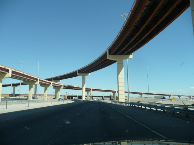 One of the fly overs on the Interstate 10 outside El Paso