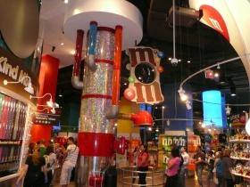 Three floors of M&M promotions
