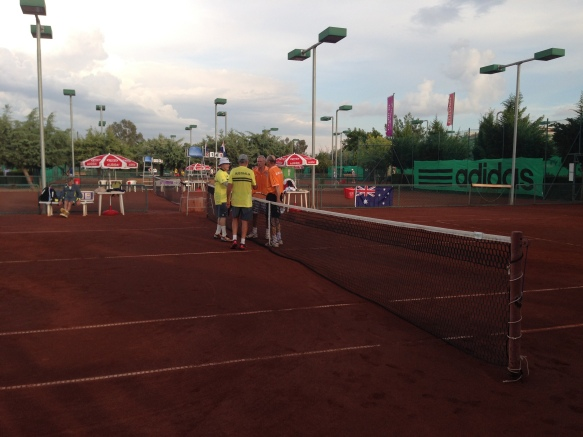 Netherland defeated Australia in the doubles