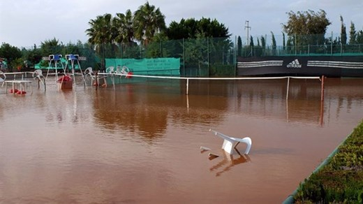 The picture on the ITF website, this court was playable in 4 hours