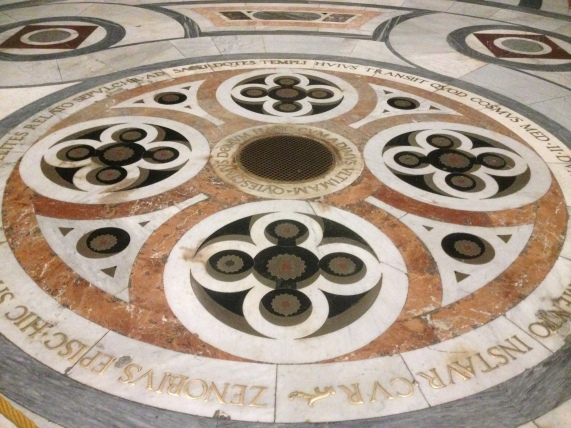 Inlaid marble covered the whole Cathedral floor
