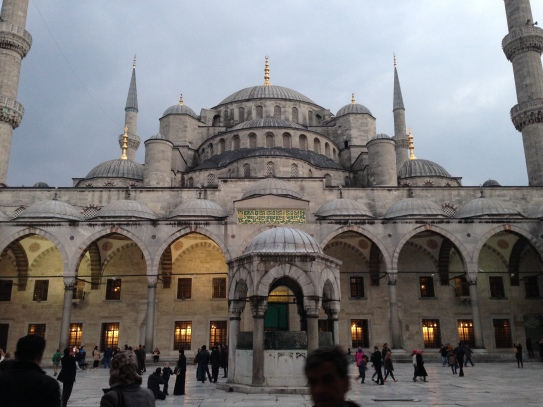 Blue Mosque from the courtyard