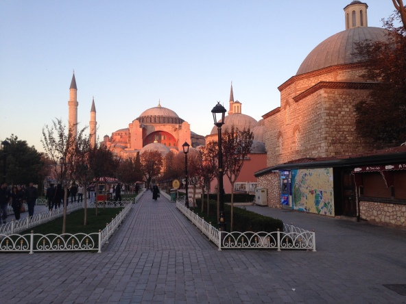 Dusk view of the Hagia Sophia