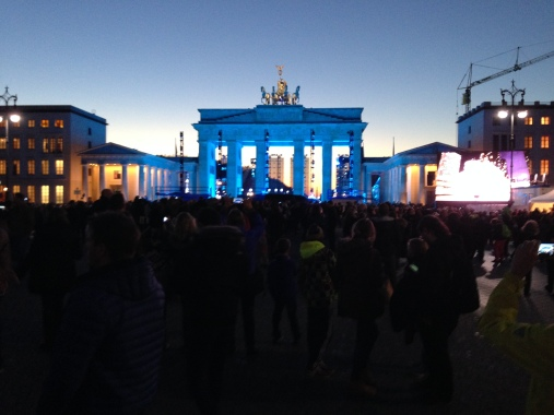 Brandenburg Gates lit up for the occasion