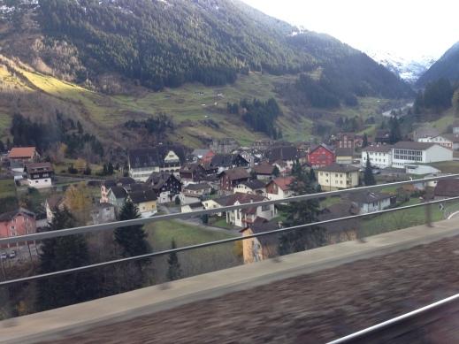 Views along the rail line