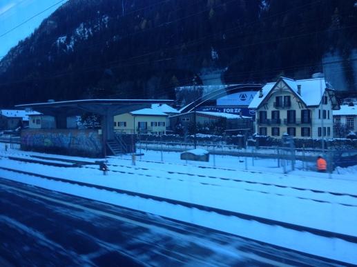 The village on the mountain pass