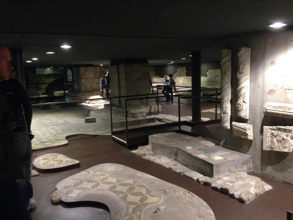 Excavations under the front of the Cathedral