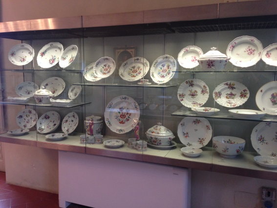 One cabinet in the china room