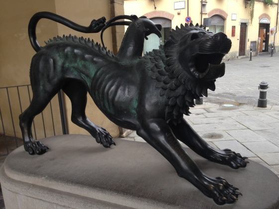 This lion was at the old entrance gate