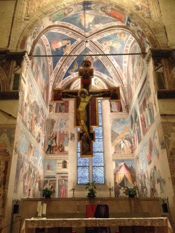 Frescoes behind the Altar