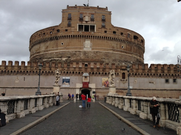 Hadrian started this in 130AD and the Popes added upper floors around 1500