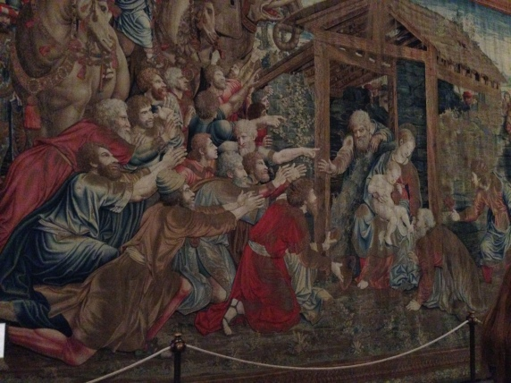 One of the tapestries from around the 1500