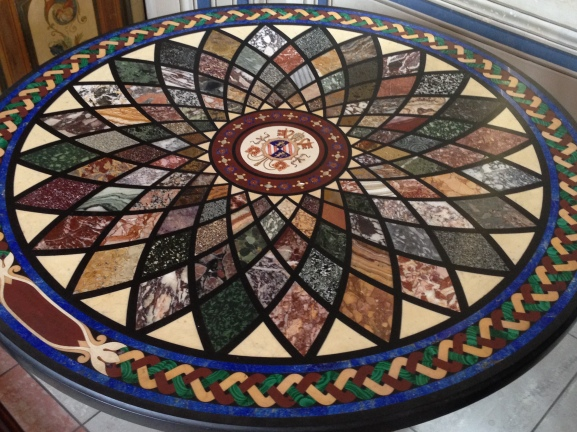 This was an inlaid marble table