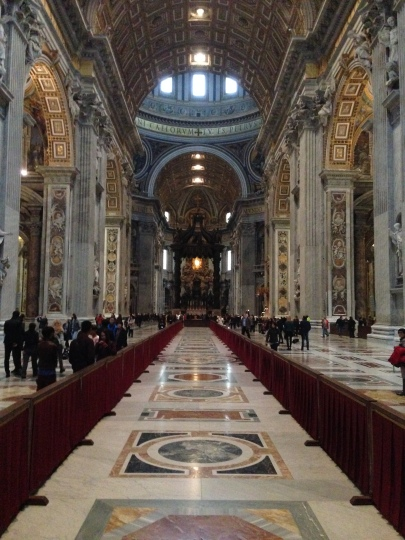 The full length of St. Peters