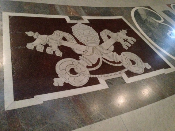 Another inlaid masterpiece in the floor