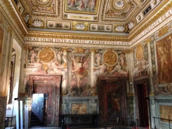 The walls of the Popes reception hall