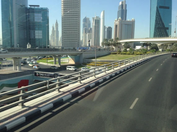 Part of the highway development & tall buildings