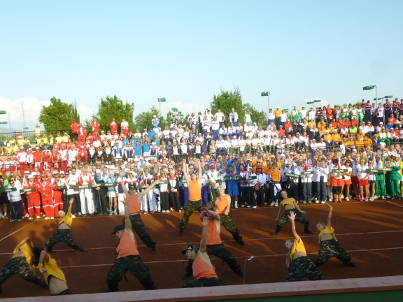 Teams Opening Ceremony with the Russian Entertainers