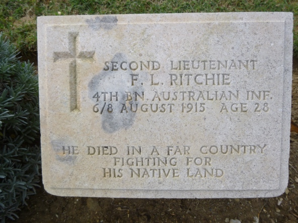 Local soldier F.L.Ritchie from Buckajo Road