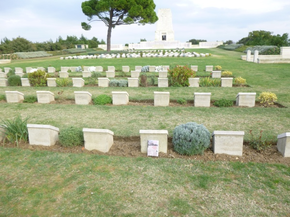 Where Second Lieutenant Richie's headstone is located at Lone Pine