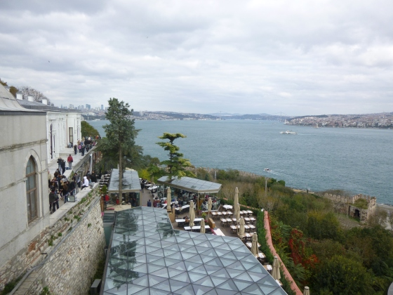 The view of the Bosphorus from the Palace