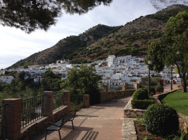 Part of Mijas set into the side of the hill
