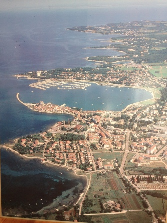 Croatian coastline with Umag in the foreground