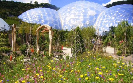The Eden Project has attractive outdoors spaces as well as its famous biomes