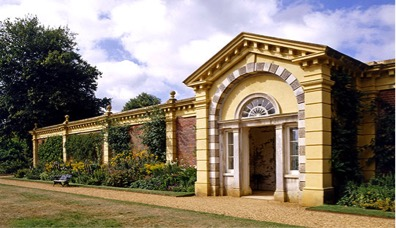 The front porch of the demolished old Osborne House, reused as the entrance to the walled garden