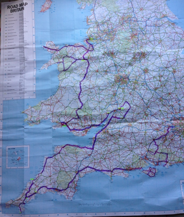 Our road trip from Holyhead to Heathrow through Wales & Cornwall